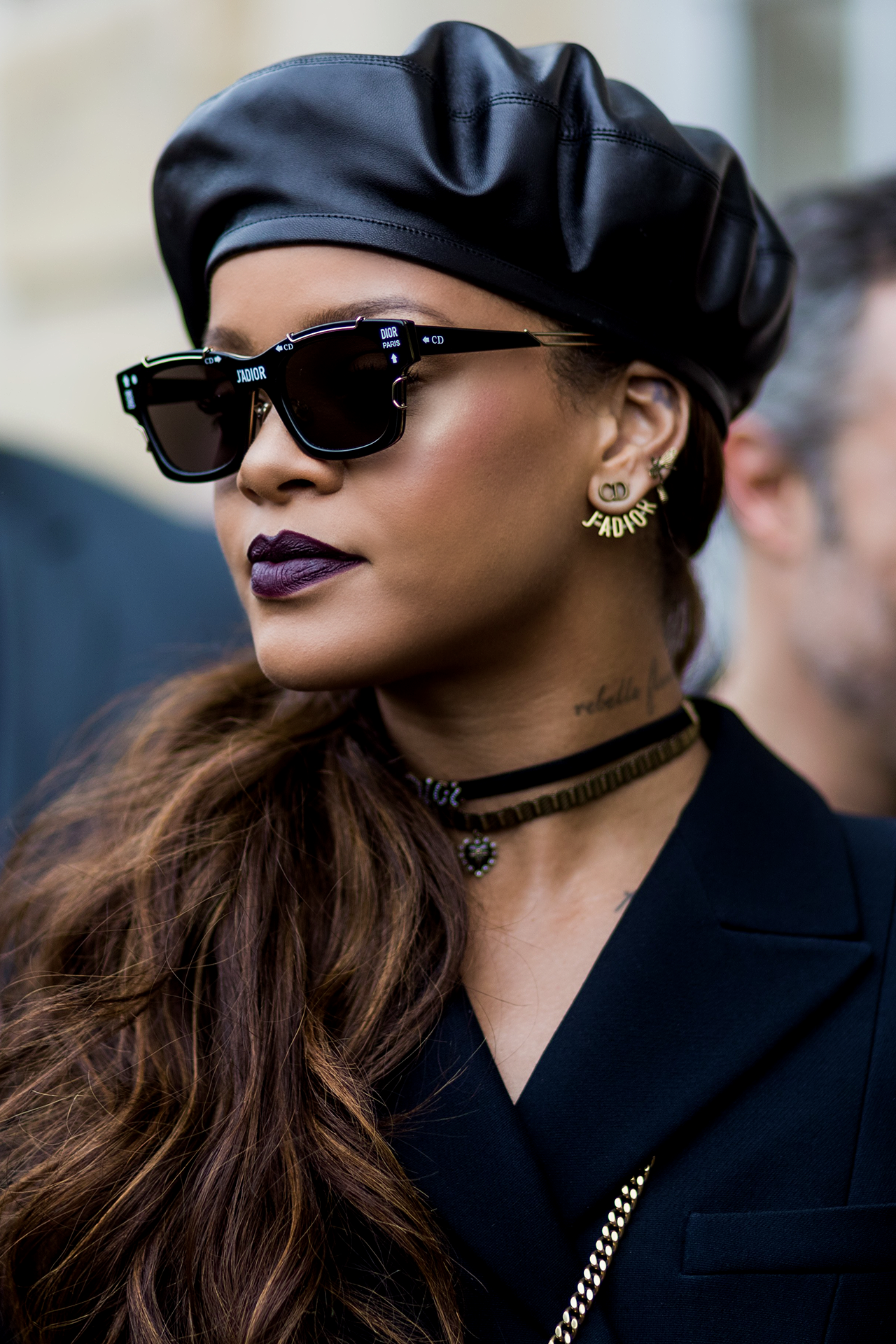 436f493e75 Find a Choker necklace like the one Rihanna was spotted wearing at the  Paris Fashion Week March 3