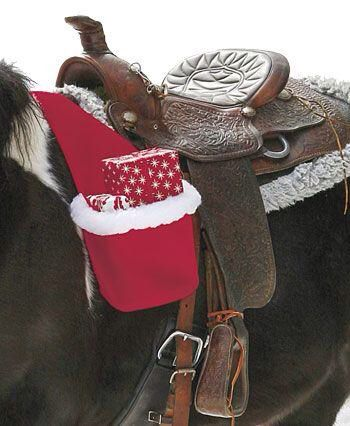 Christmas Horse Tack.Cool Way To Give Christmas Tack On Horse Back Xd Horses
