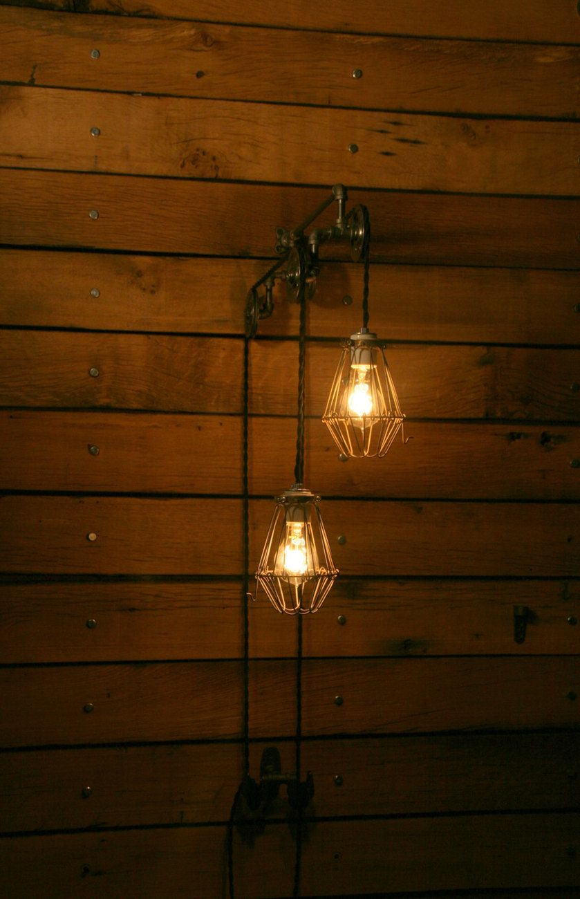 Industrial Pulley Light - Trolley Wall Light...$279.00 | Creative ...