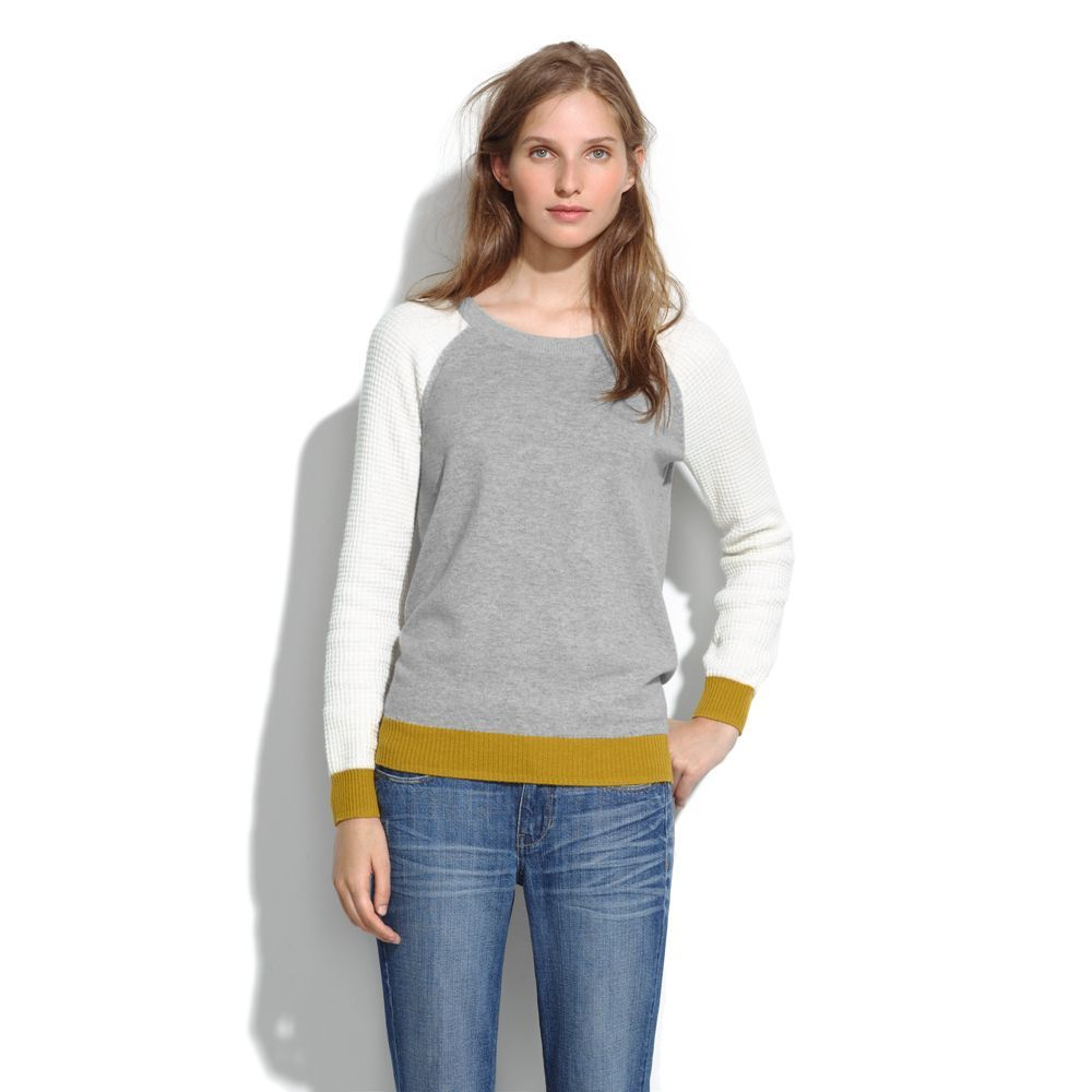 Wafflestitch Colorblock Sweater. By Madewell. Love