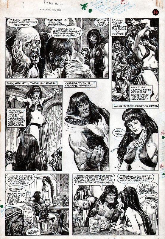 Savage Sword of Conan 7 p.18 (Buscema / Alcala) Comic Art