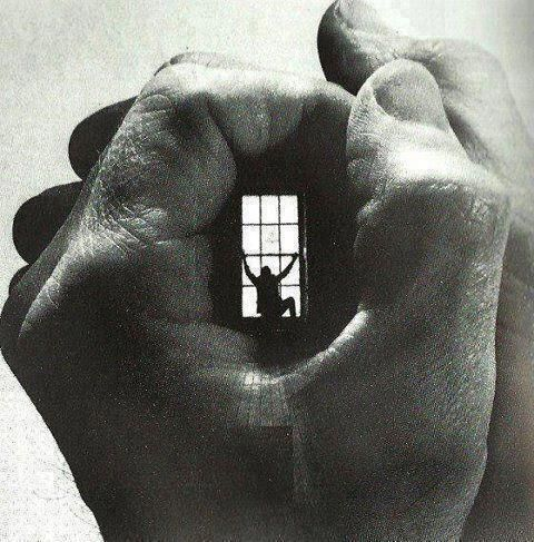 """In this """"prison without bars"""" (Lisa Fulham title book) -- A man tries the ultimate escape, a prison with no names, the ultimate fantasy, no childhood, no future, any minutes he will try his damned fall, within hands mastering his thoughts, lights extinguished definitively. No one will contemplate his fall, no one will back him up. He is there because of life, he is there because of bullies, no one called."""