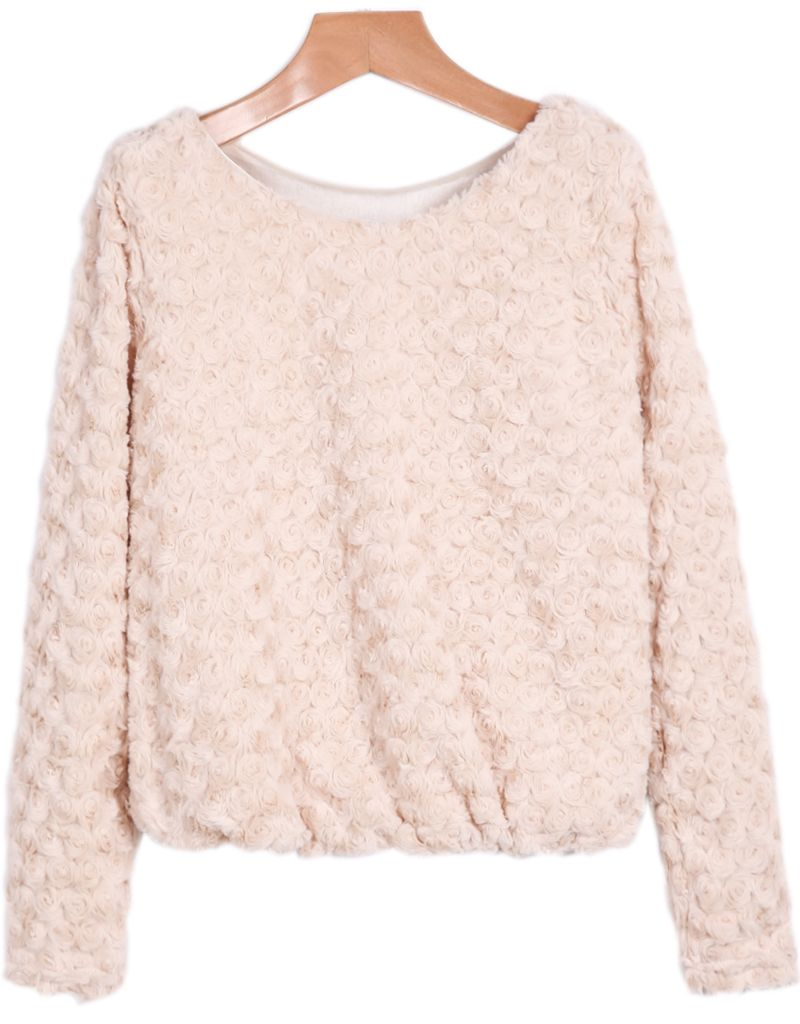 26f594ea50f Faux Fur Crop Apricot Blouse | Tops For Women | Crop blouse, Faux ...