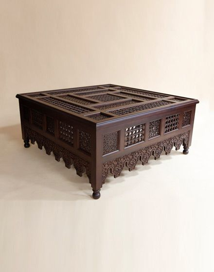 Moroccan Wooden Large Coffee Table Decor Ideas