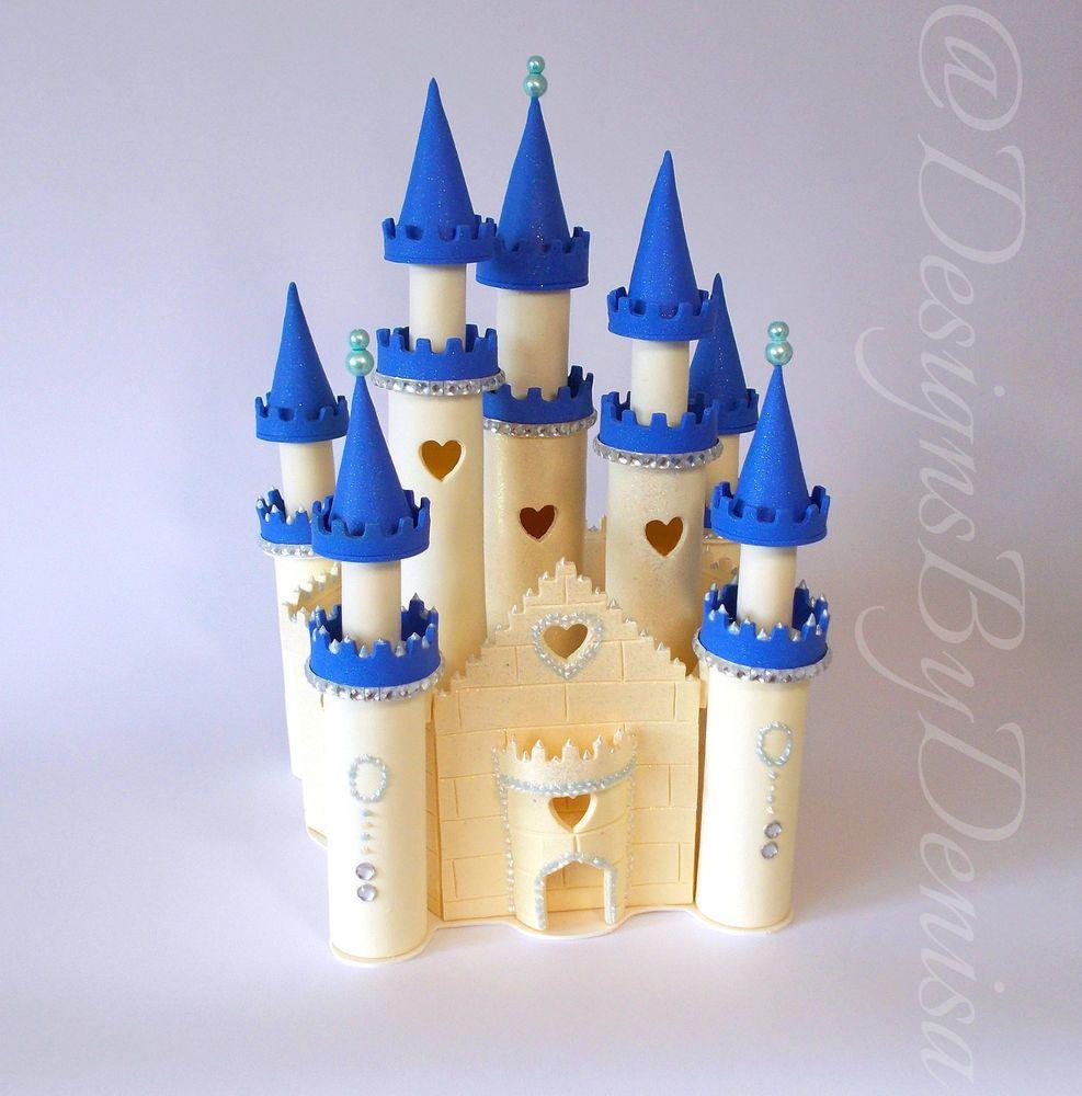 Disney inspired princess castle wedding cake topper disney