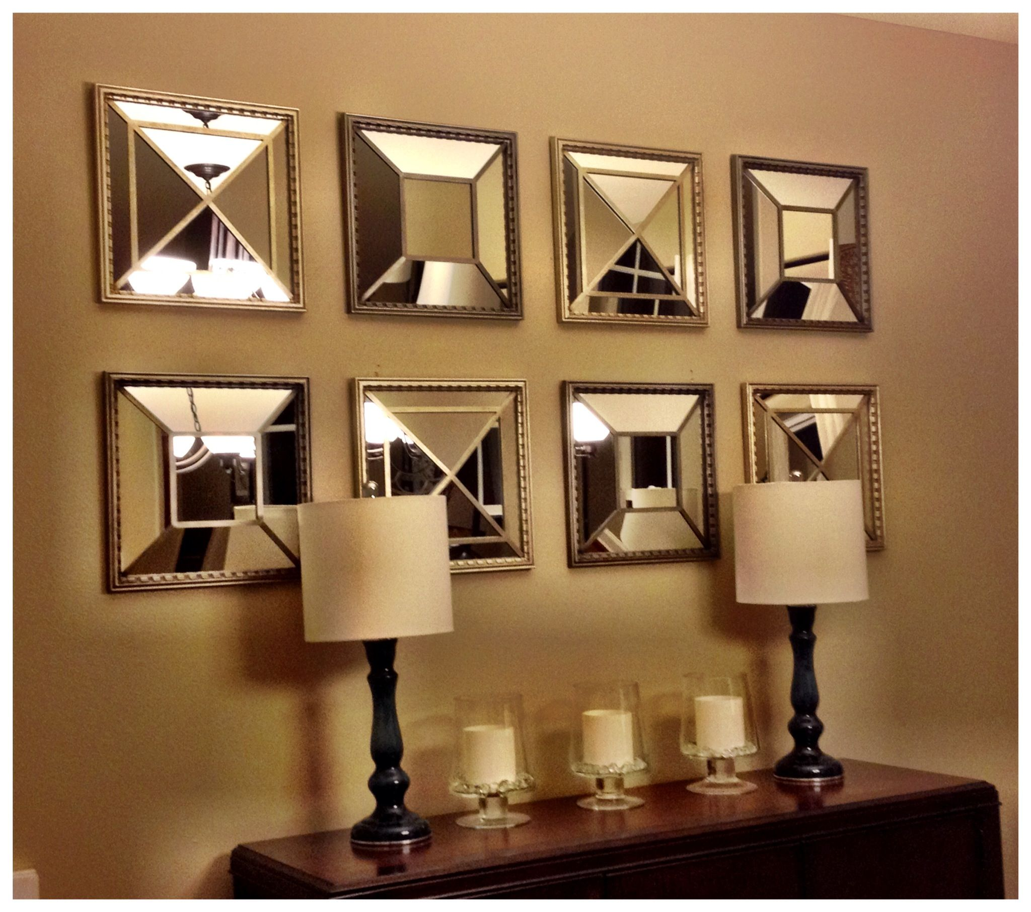 My New Mirrors Over The Buffet In Dining Room