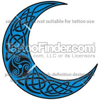 Celtic Crescent Tattoos