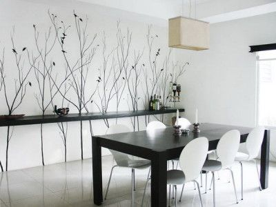 modern interior dining room wall murals art | #stylecure