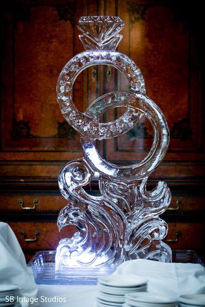 Ring Shaped Ice Sculpture Indian South Asian Weddings Maharani
