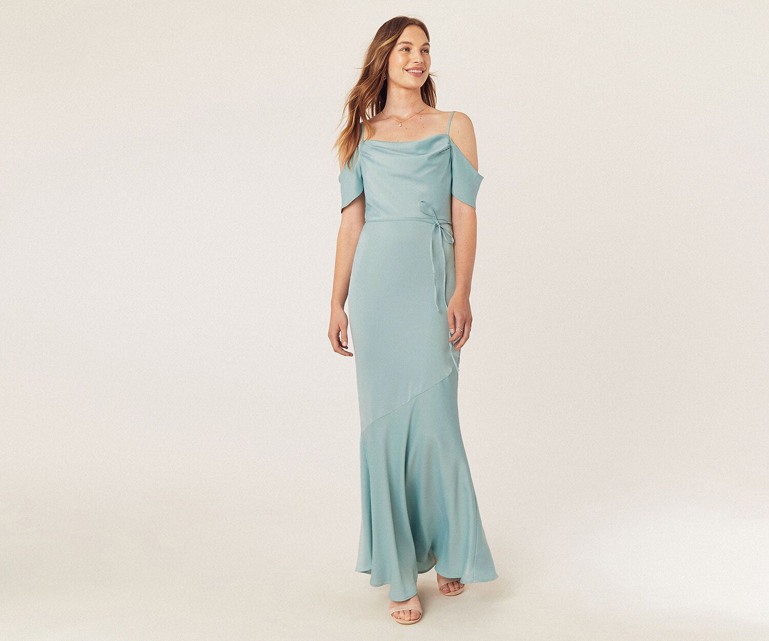 Oasis Cowl Neck Bridesmaid Dress Pale Green Sophisticated Dress Pretty Dresses Bridesmaid Dresses