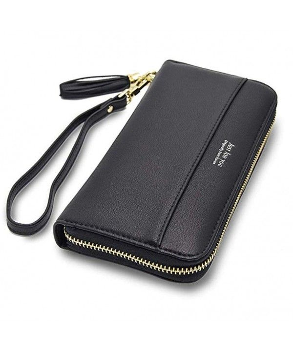 a3a20526785 Women's Bags, Wallets, Women Leather Wallets Zip Around Large Clutch Card  Holder Organizer with Wrist Strap - A-black - CZ18IIDGXQ8 #Women #Fashion  #Bags ...