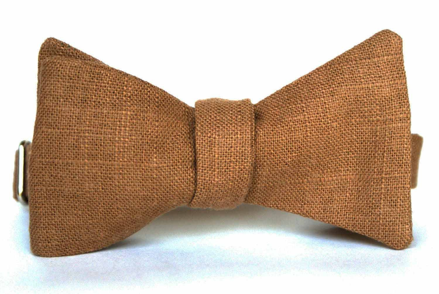 Faux Burlap Mens Bow Tie. $29.50, via Etsy.