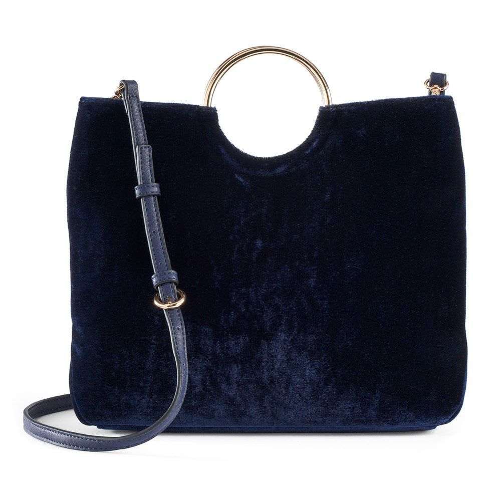 480a3535f LC Lauren Conrad Runway Collection Celeste Velvet Ring Crossbody Bag,  Women's, Blue (Navy)
