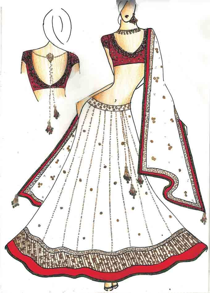 Indian Drawings Of Dresses Google Search Dress Design Drawing Fashion Illustration Dresses Fashion Illustration Sketches Dresses