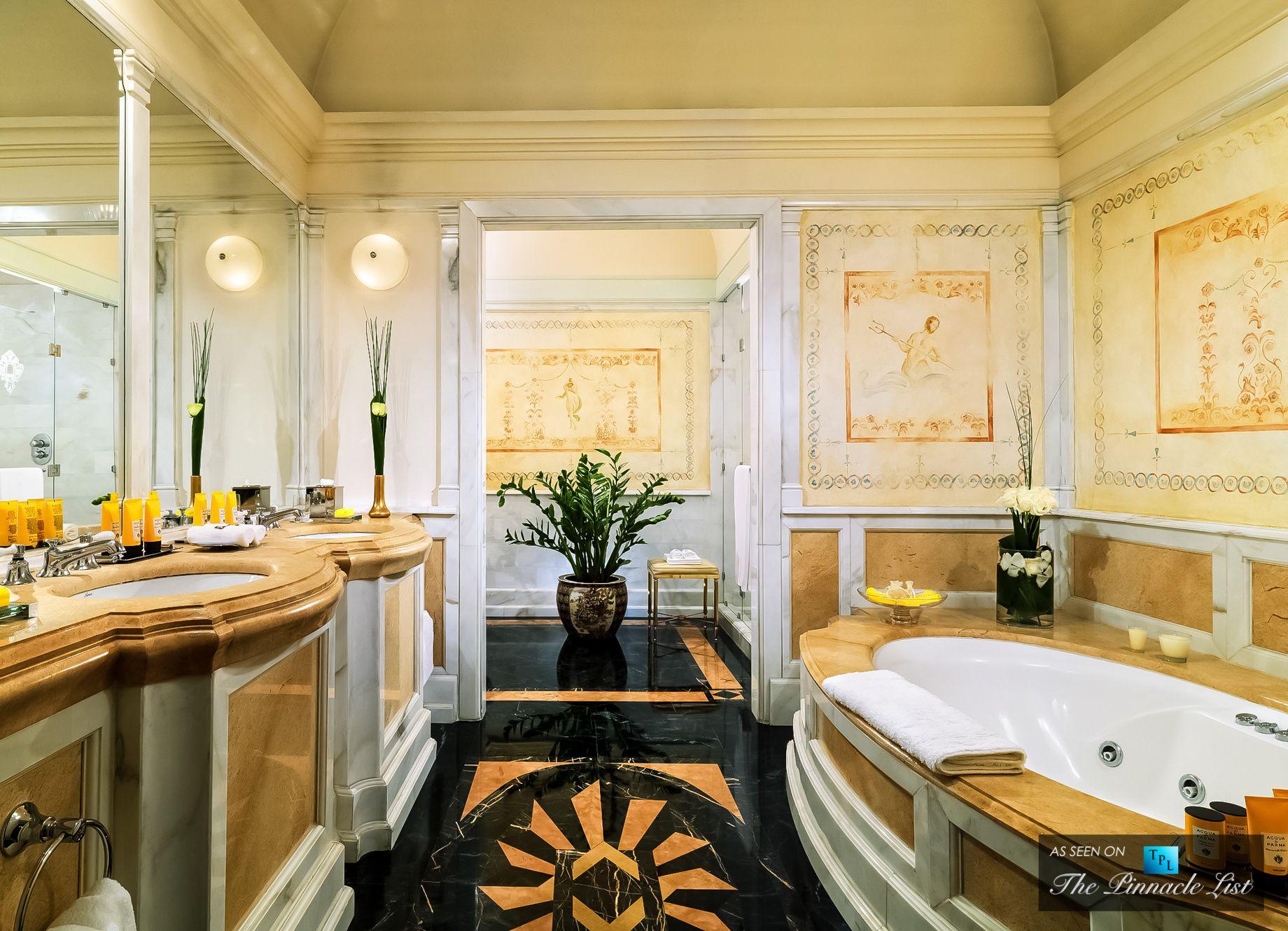 Сентреджис Роскошный Отель Типа E2 80 93 Риме Италия Дизайнерская Magnificent Luxury Hotel Bathroom Decorating Design