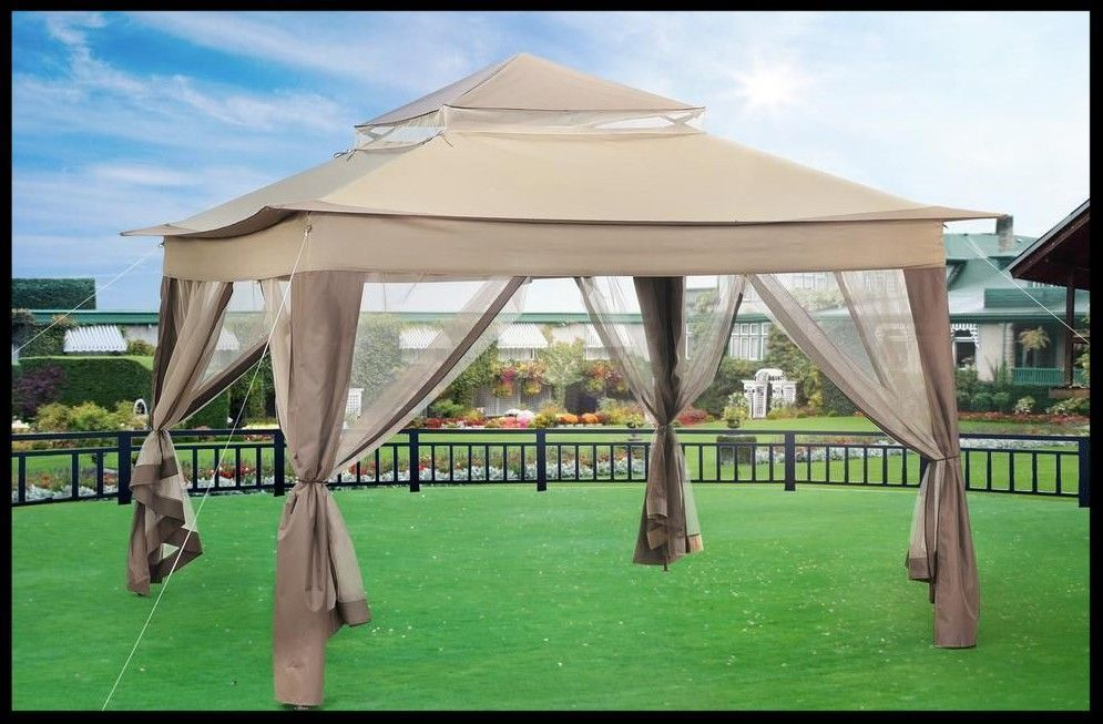 Steel Gazebo Large Pergola Heavy Duty 10 X 10 Patio Metal Pop Up Canopy Wedding Steelgazebolarge Steel Gazebo Gazebo Pergola