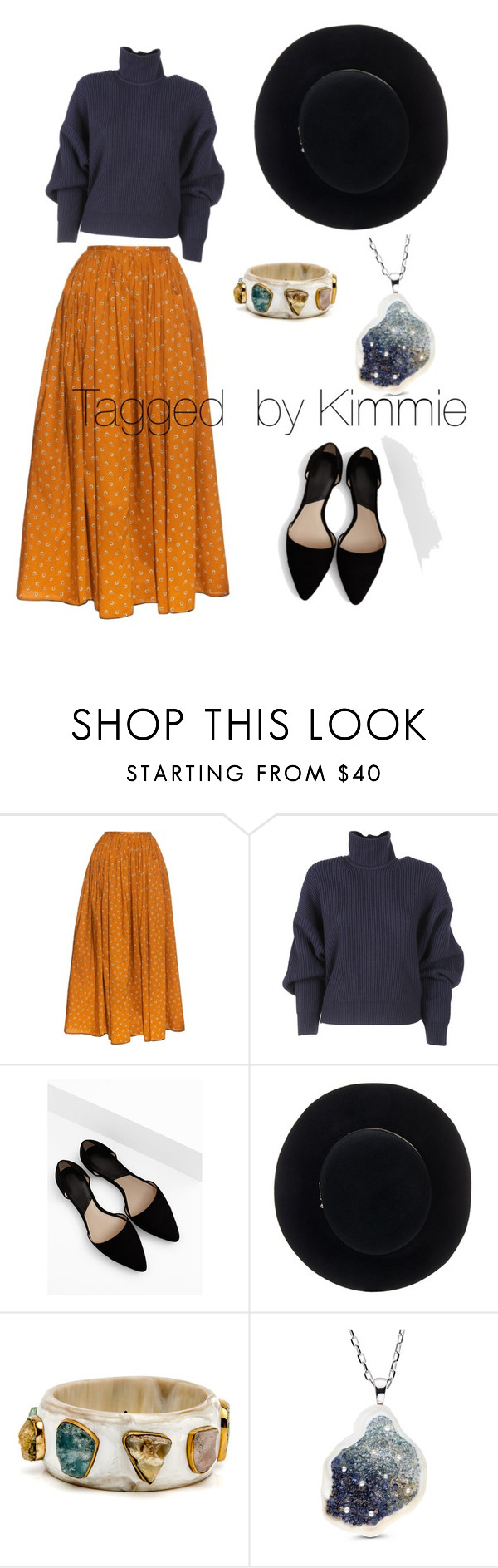 """""""How to wear a long skirt"""" by taggedbykimmie15 on Polyvore featuring Thierry Colson, Balenciaga, MANGO and Eugenia Kim"""