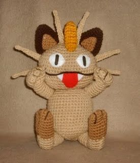 Wolfdreamer Meowth Plushie Crochet For Dax Pinterest Pokémon