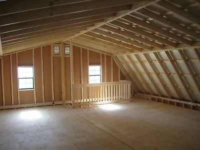Amish 20x20 Double Wide Garage Gambrel Roof Structure In