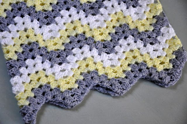 The Kc Experience Granny Ripple Baby Afghan Crocheted Afghans