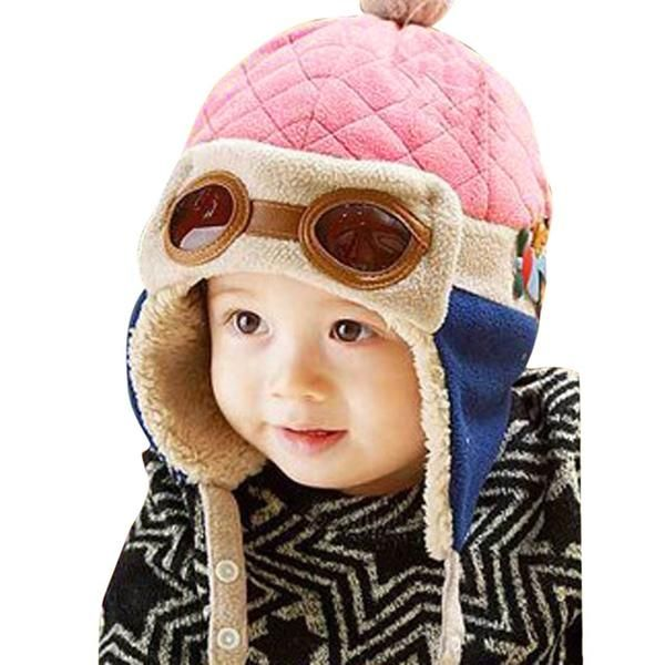 5a22dfcbffe095 Fashion Baby Winter Autumn Spring Warm Hat Toddlers Cool Caps Boy Girl  Pilot Cute Beanie Caps Children Kids Hats