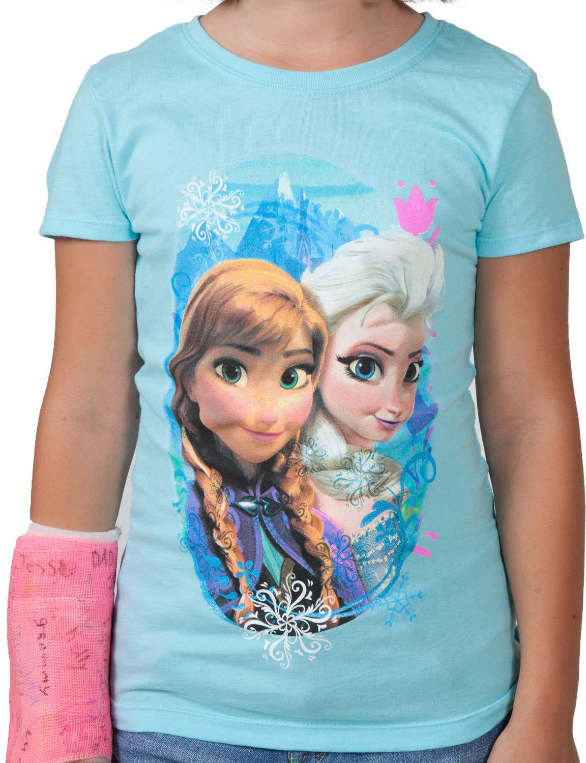 Frozen Girls Anna And Elsa T Shirt