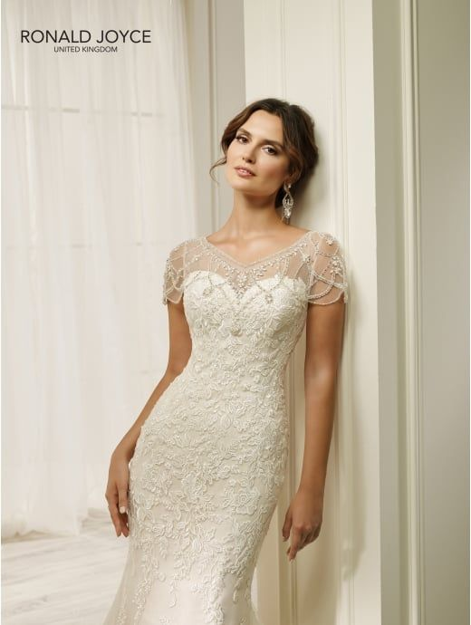 Ronald Joyce 69216 Hadara Fit And Flare Lace Wedding Dress Ivory ...