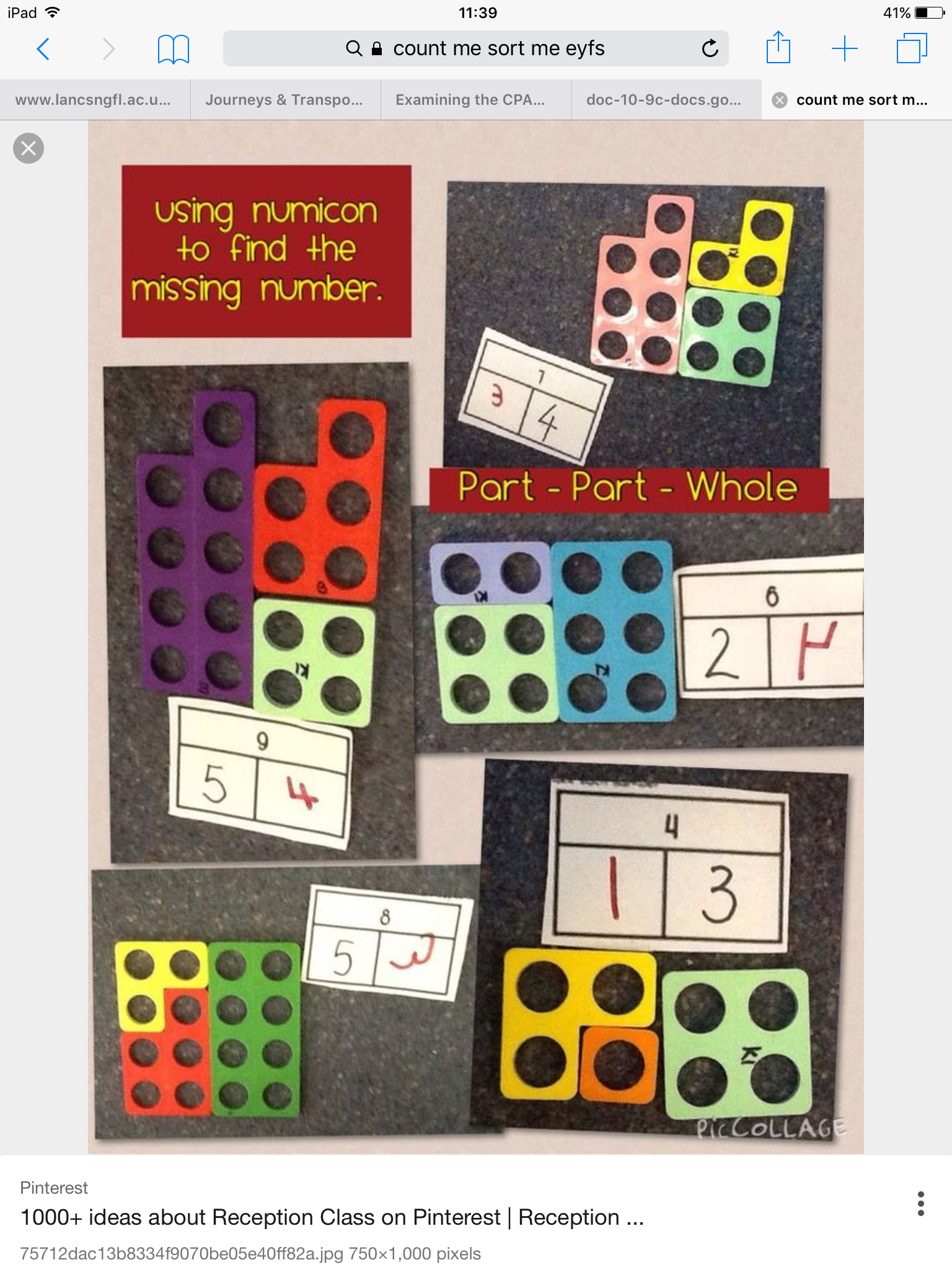 Part part whole. | Maths eyfs, Mastery maths, Numicon ...