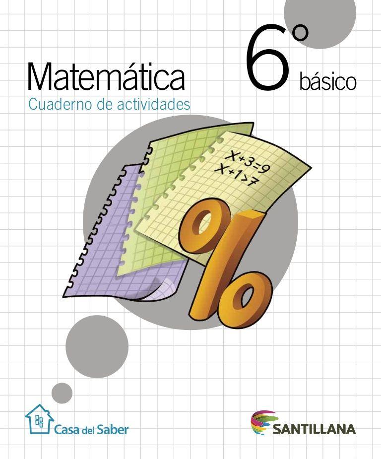 Cuaderno Actividades Matemática 6º Cuadernos De Matemáticas Actividades De Matematicas Matematicas