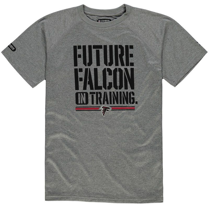 223def7da Atlanta Falcons Under Armour Youth NFL Combine Authentic Future Tech  Performance T-Shirt - Gray
