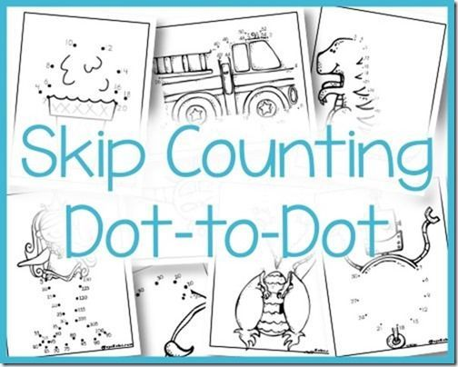 Skip Counting Dot To Dot 2s 3s 5s And 10s Math Pinterest