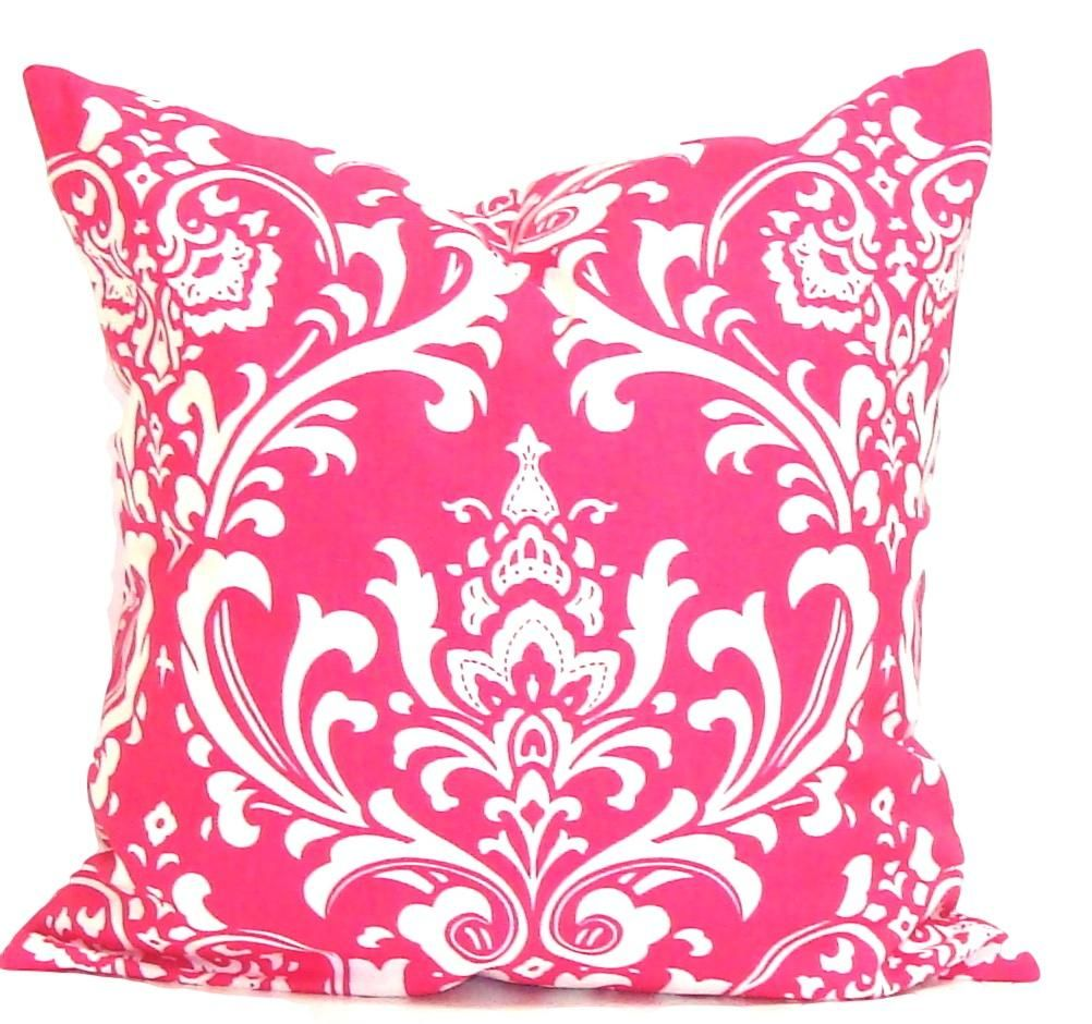 Hot Pink Damask Floor Pillow Cover 28x28 Inch Hot Pink Euro Sham
