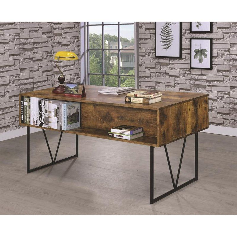 Eveloe Desk Modern Rustic Decor Coaster Furniture Furniture