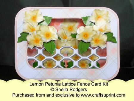Lattice Fence Card - Lemon Petunia