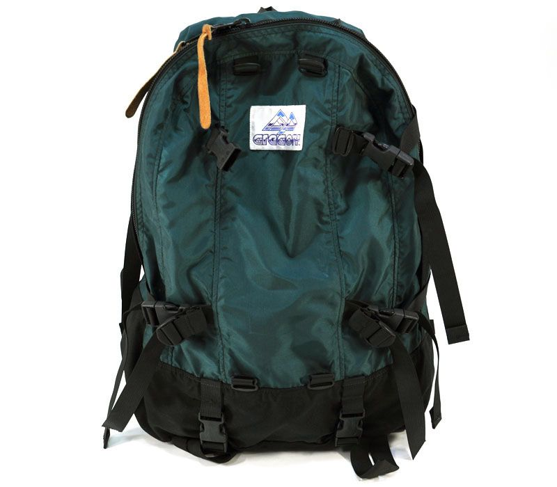 15b34668897d 90's 旧ロゴ 紫タグ グレゴリー 2 DAY グリーン×ブラック 極上! お買い得