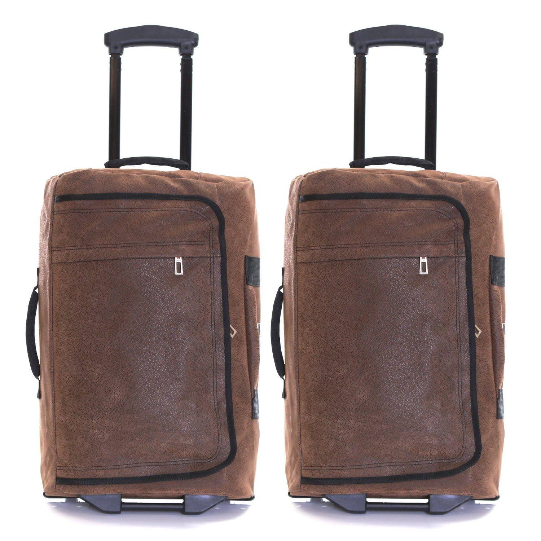 Karabar Set Of 2 Super Lightweight Cabin Approved Wheeled Bags   3 Years  Warranty! (