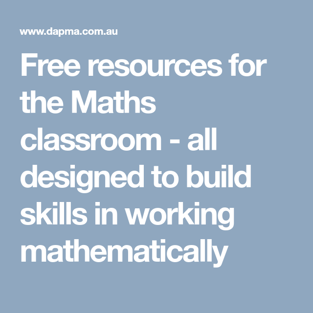 Free resources for the Maths classroom - all designed to build ...