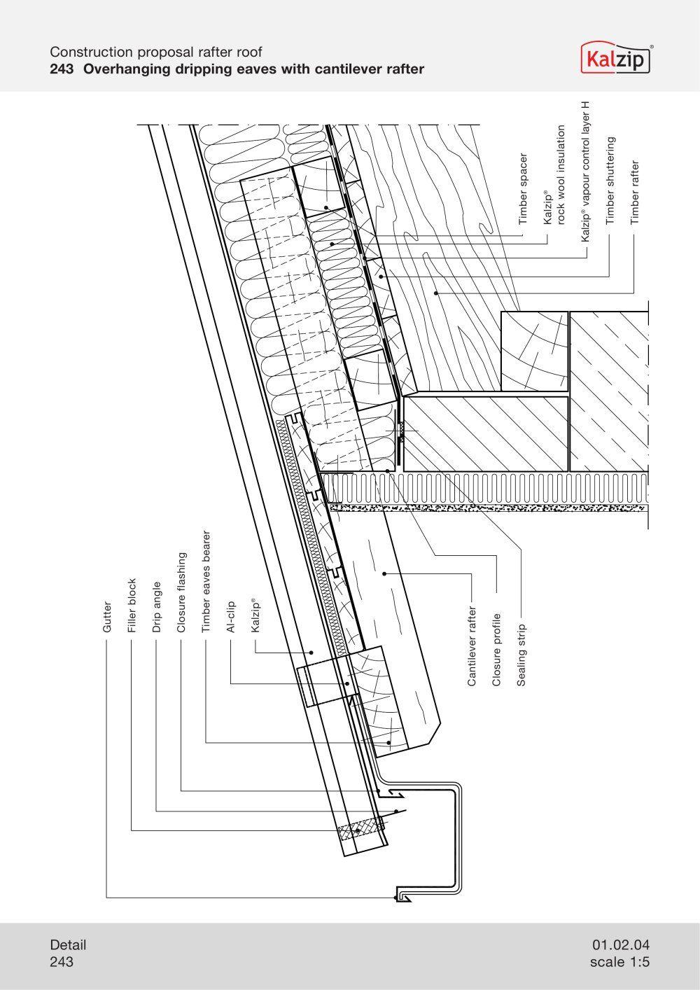 Kalzip Construction Details Archiexpo Rock Wool Insulation Detail Aluminum Roof