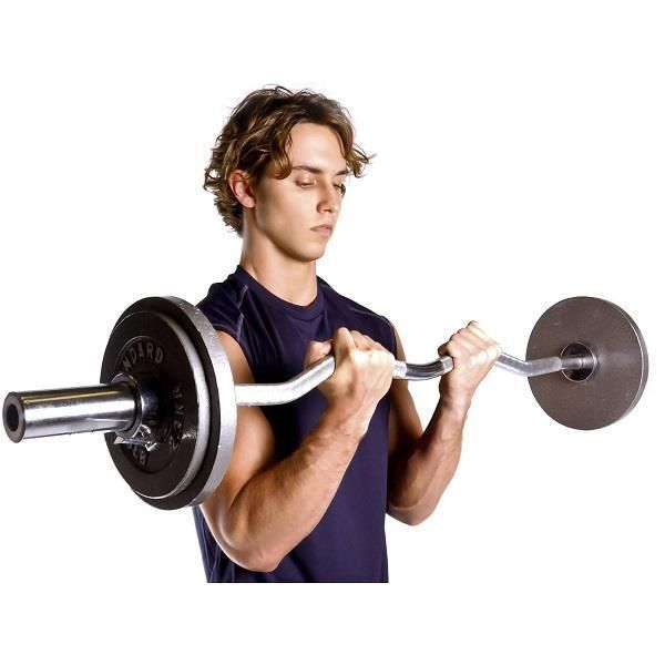 Barbell 1 Standard E Z Curl Bar Quality Solid Steel Bodybuilding Bench Fitness Capbarbell Sport Tools Pinterest