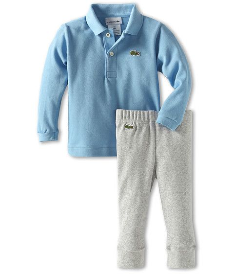 5abb2f77 Lacoste Kids Boy's L/S Polo And Pant Baby Gift Set (Infant) | IT'S A ...