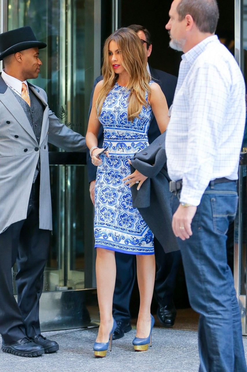 Sofia Vergara wearing Charlotte Olympia Dolly Pumps