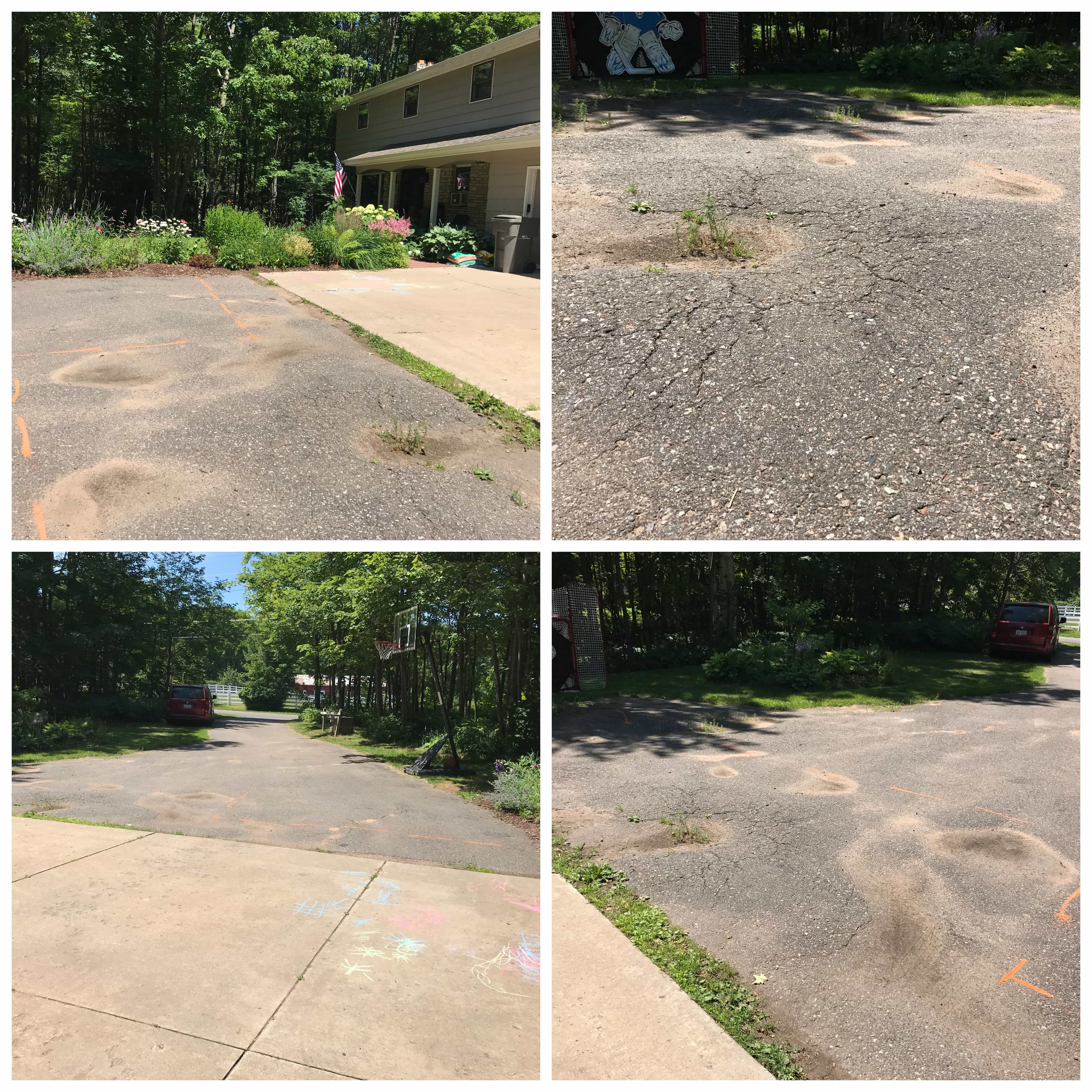 How We Saved A Ton Of Money On Our Driveway Repair Driveway Repair Asphalt Driveway Repair Diy Driveway