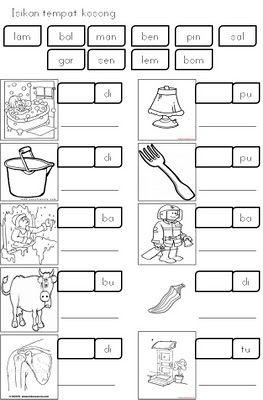 Free Worksheet Preschool Bahasa Melayu With Prasekolah