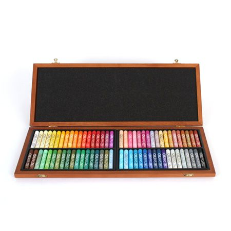 Wooden Box With 72 Oil Pastels Deserres Art Supplies In 2019