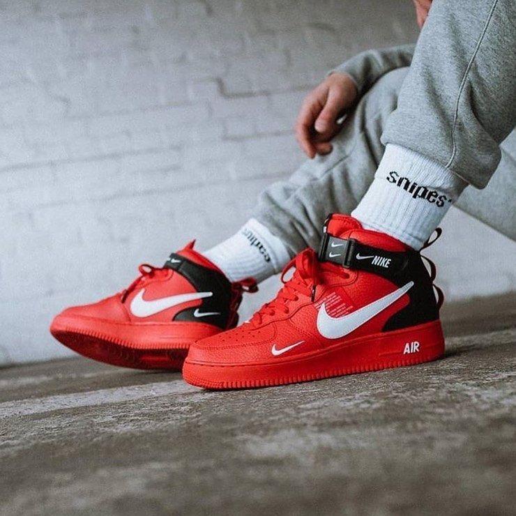 "Street Factory⚔️ Nike Air Force 1 High ""Utility Red""🧨 Tallas disponibles: 2 Al 9 MX  Whatssap: 55298..."