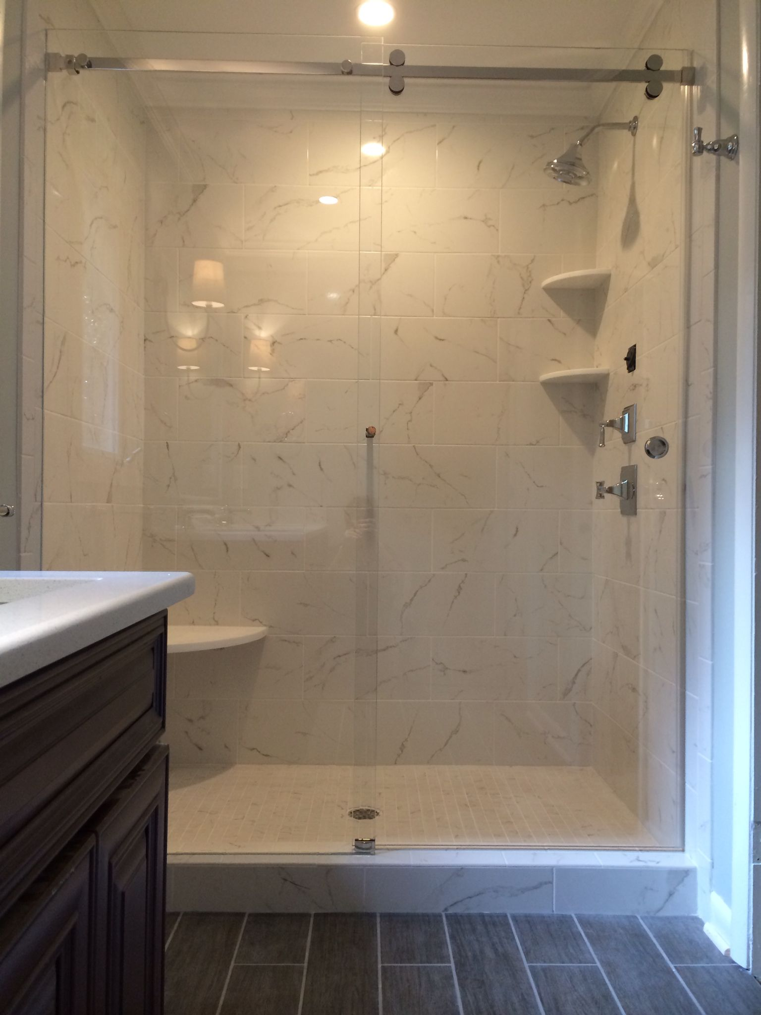 Serenity Sliding Shower Enclosure Is An All Glass System With
