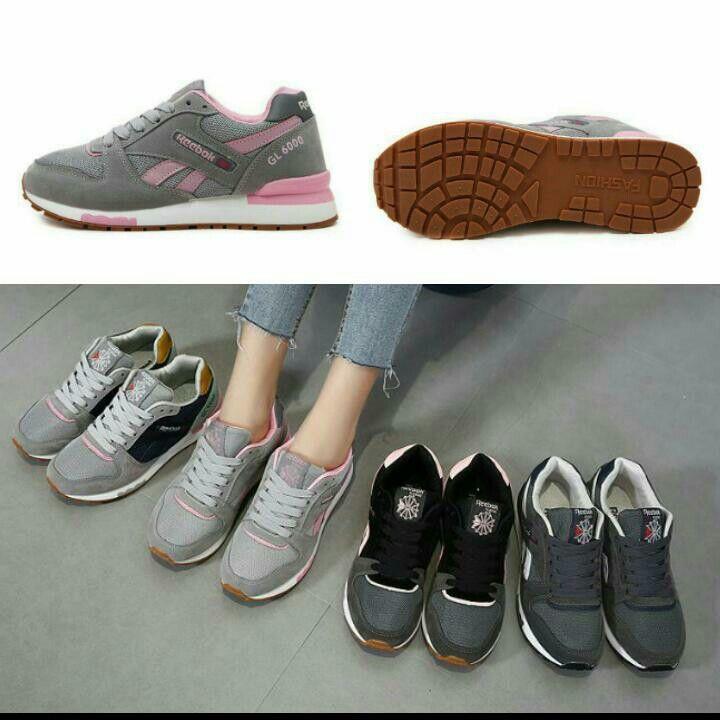 Sepatu Reebok 1681 Semipremium Heels 4 Cm 4 Warna Gray Black