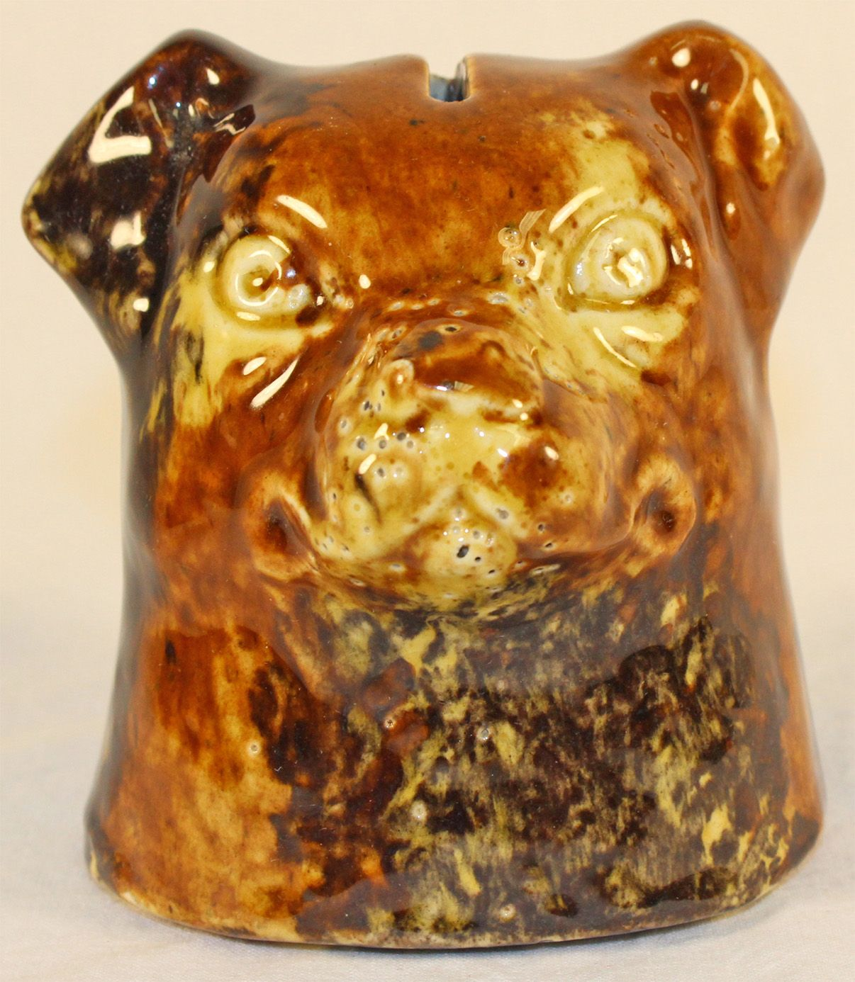 Roseville Pottery Dog Bank 4 from Just Art Pottery