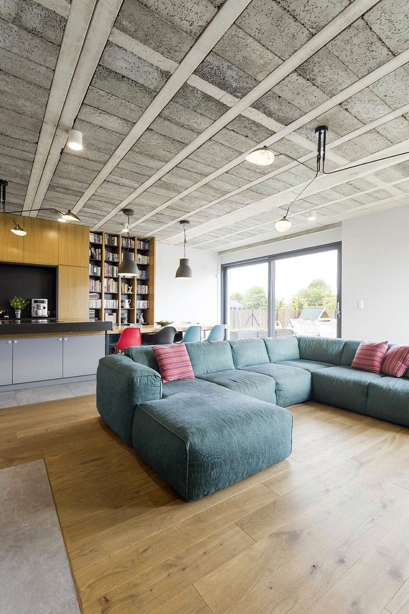Sieroslaw House By Modelina Architecture Pigeon Loft Design Living Room Modern Contemporary Living Room
