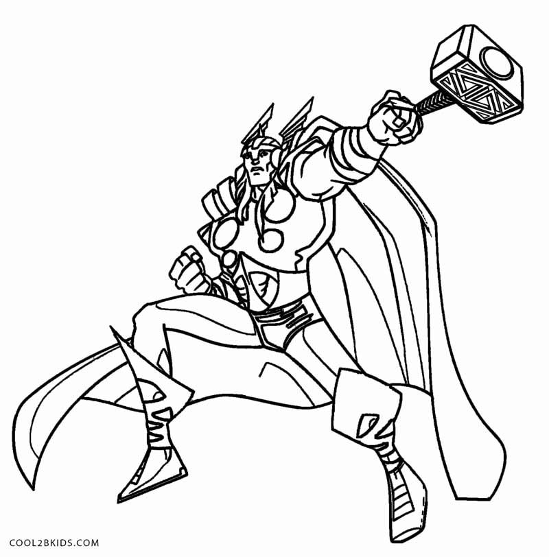 Thor Coloring Pages Vilas Herois